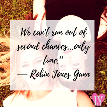 "We can't run out of second chances...only time."" ― Robin Jones Gunn.png"
